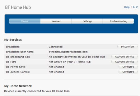 how to upgrade bt home hub firmware