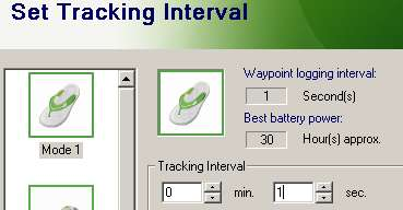 iGotU Tracking Interval