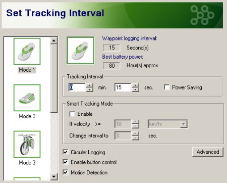 iGot-U Set Trackiing Interval