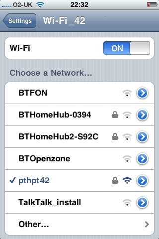 how to make the i appear next to wifi iphone