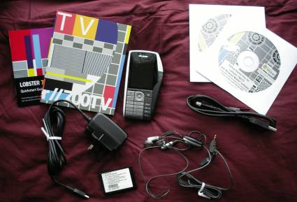 Lobster 700TV Box contents