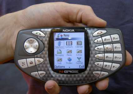Nokia N-Gage in hand