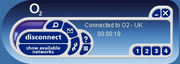 o2 Mobile Broadband Connection Manager Screenshot