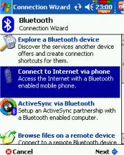 Bluetooth connection wizard
