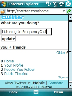 Social Networking Twitter Screenshot