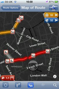 TomTom Live Traffic Road Speeds on iPhone