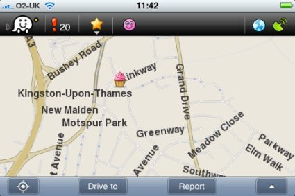 Waze on the iPhone