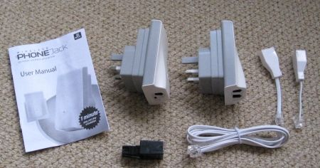 Wireless Phone Extender Package contents