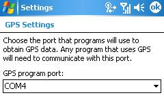 orbit GPS settings