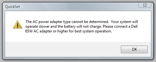 Dell XPS M1330 Laptop - AC Power Adapter Problem